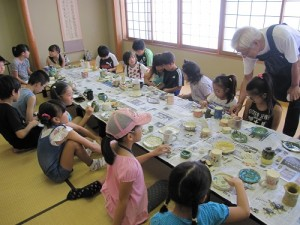 陶芸教室品評会の様子
